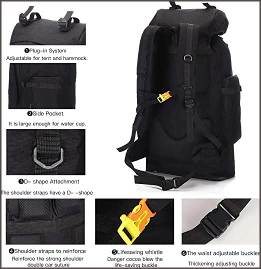 100L Hiking Backpack power