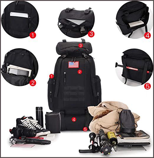 100L Hiking Backpack