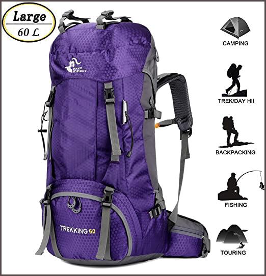 60L Waterproof Travel & Hiking Backpack
