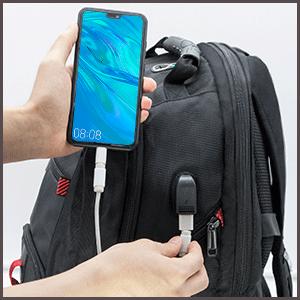 NUBILY Laptop Backpack 17.3 Inch Waterproof Large TSA Travel Backpack USB
