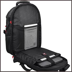 NUBILY Laptop Backpack 17.3 Inch Waterproof Large TSA Travel Backpack 180 degree