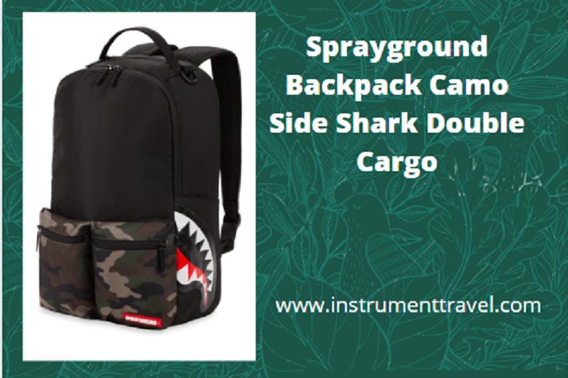 Sprayground Backpacks Camo Side Shark Double Cargo