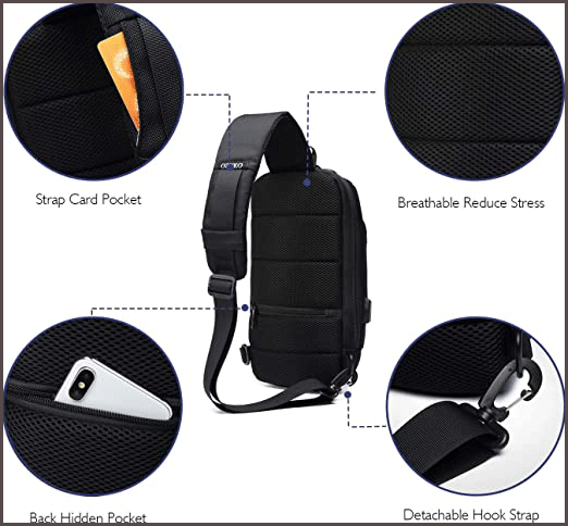 Wisfruit Anti Theft Sling waterproof backpack designed comfort