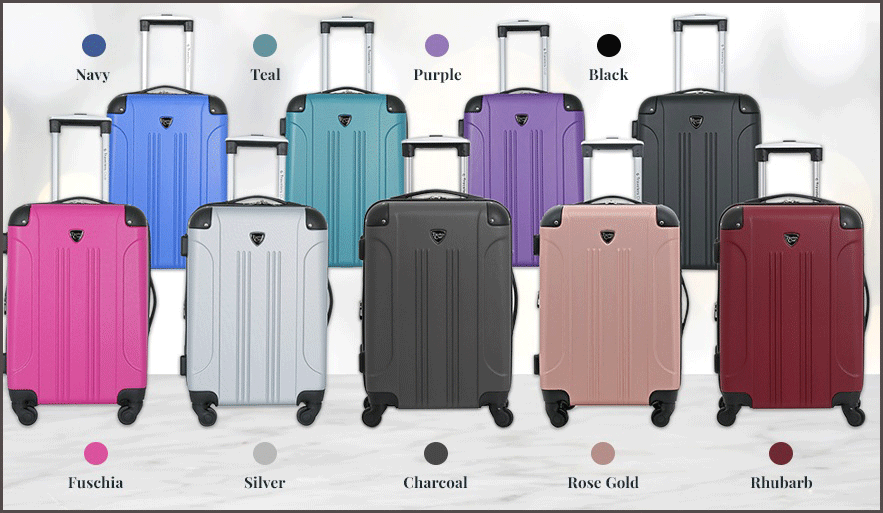 travelers club luggage colors